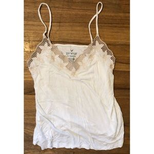American Eagle Soft & Sexy Tank Top embroidered